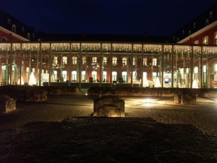 Illumination de Noël à l'Abbaye de Stavelot