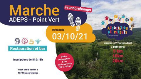 Marche ADEPS – Points Verts